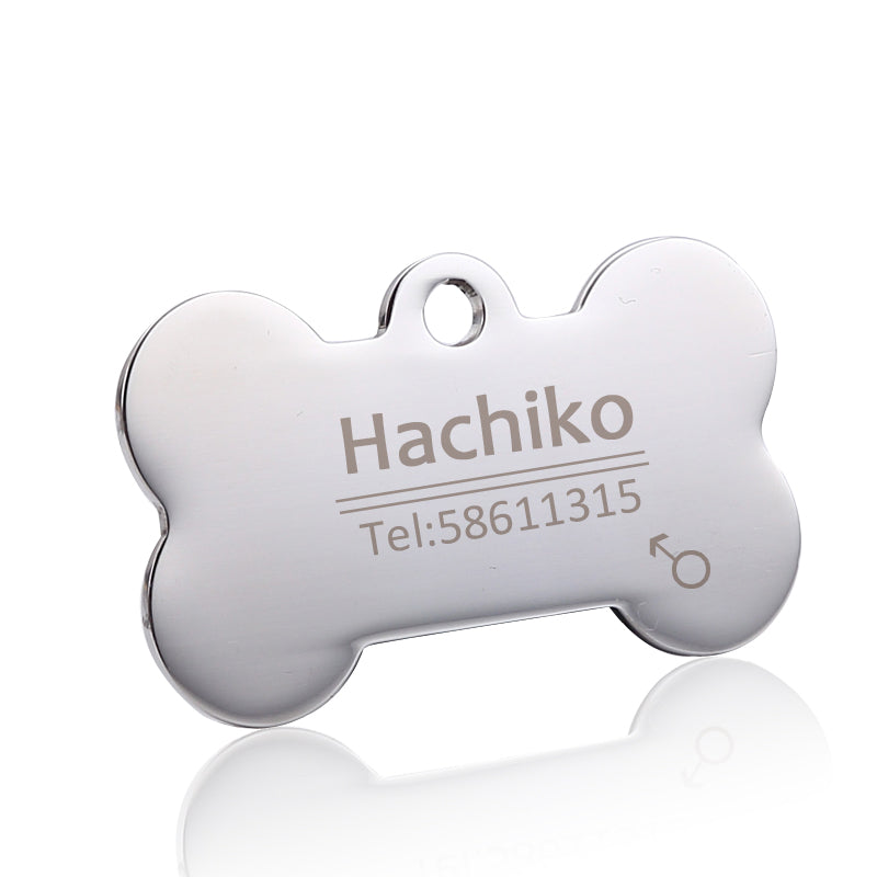 Stainless steel Pet collar customized ID tag engraving