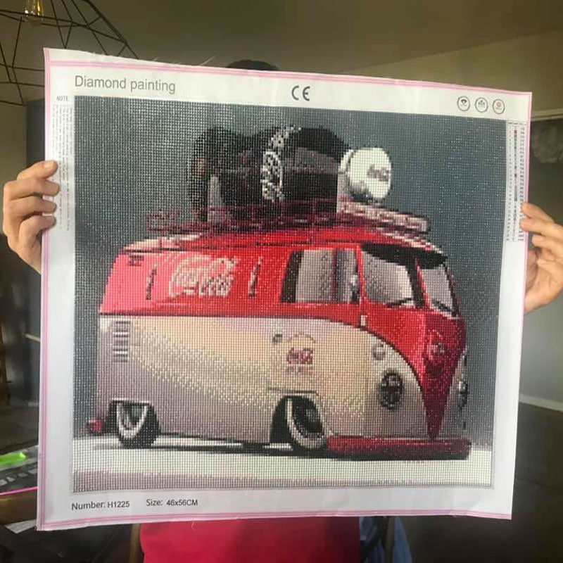 diamond painting van coca cola