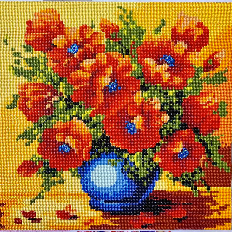 diamond painting vase