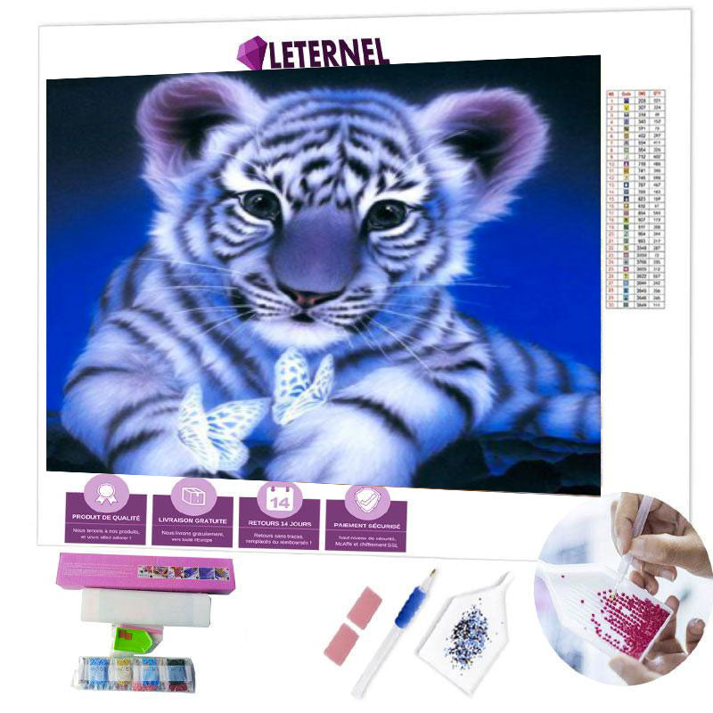 diamond painting bébé tigre