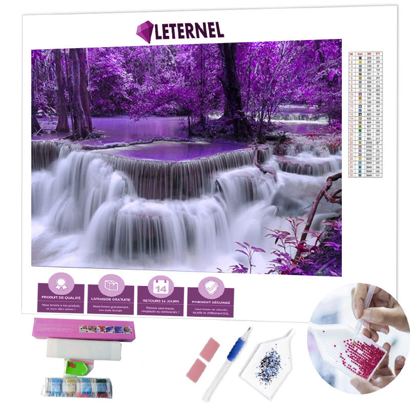 diamond painting cascade violette