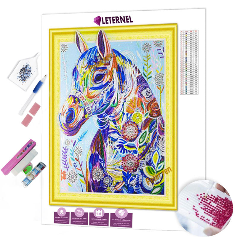 diamond painting cheval