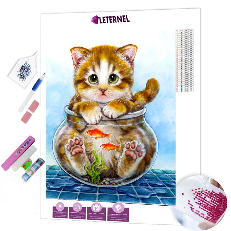 diamond painting chat aquarium