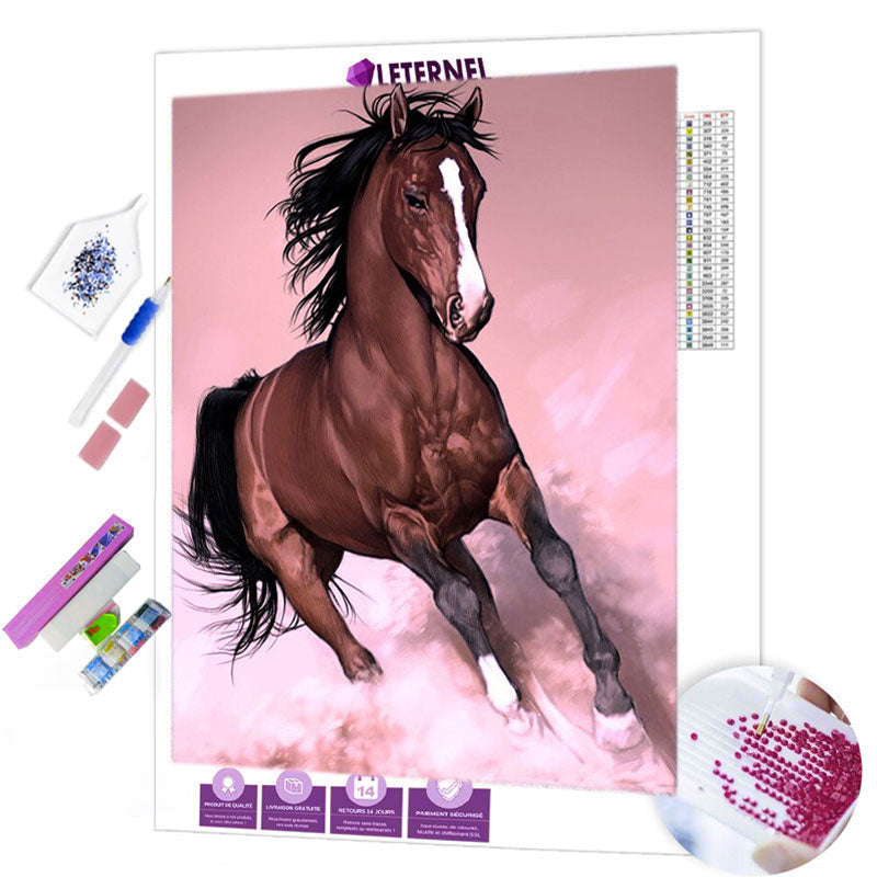 diamond painting cheval majestueux