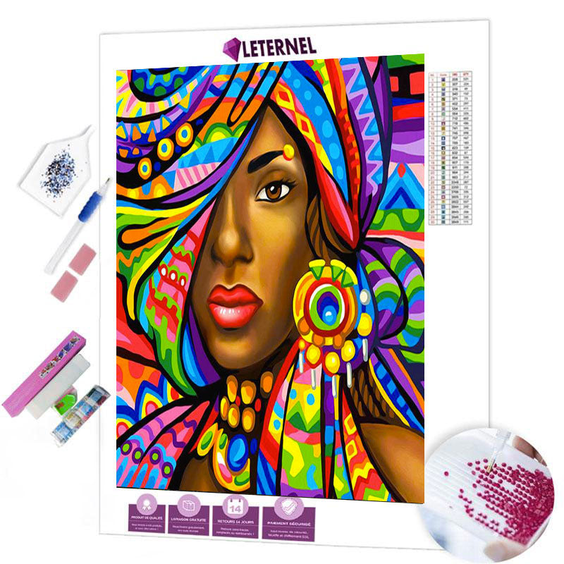 diamond painting boubou coloré