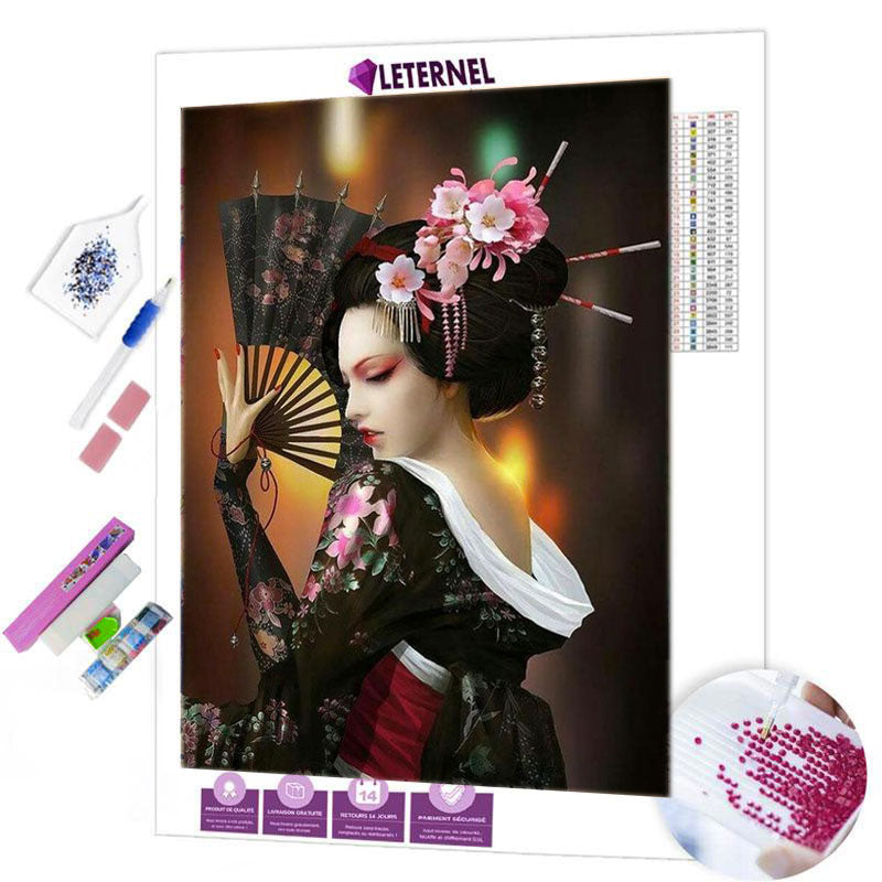 diamond painting geisha japonnaise