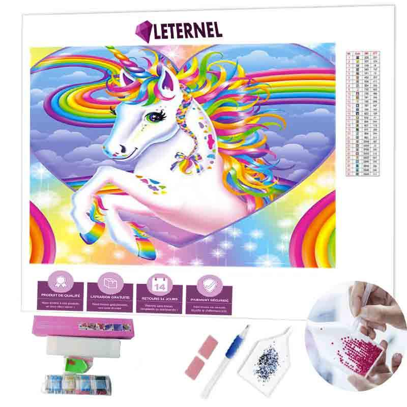 Diamond painting Licorne coeur