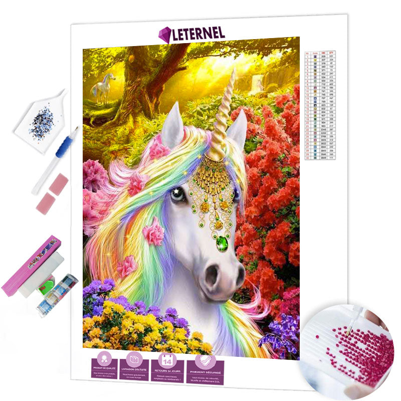 diamond painting licorne féerique