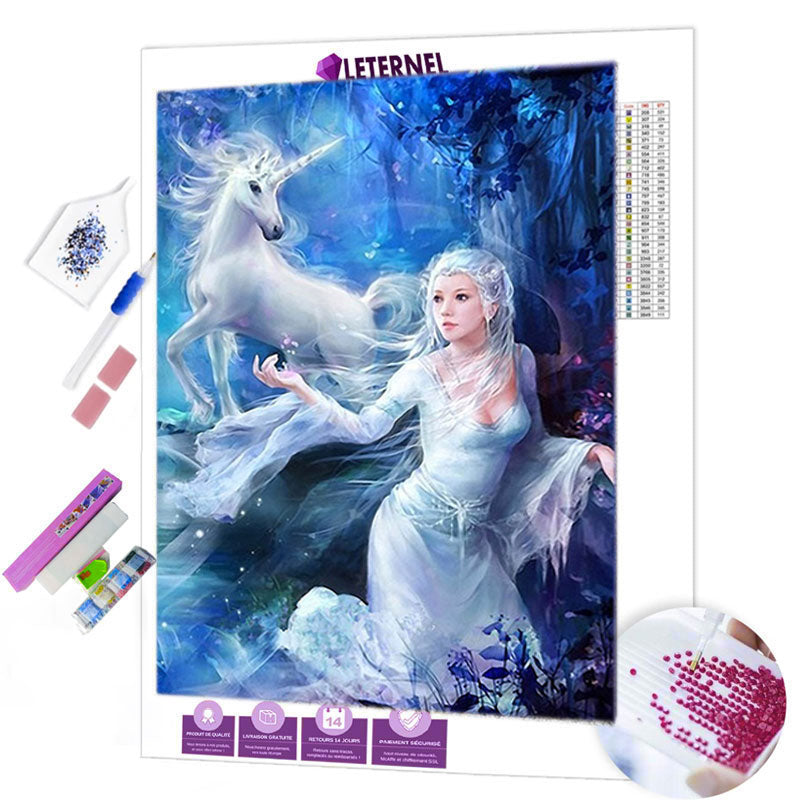 diamond painting licorne princesse