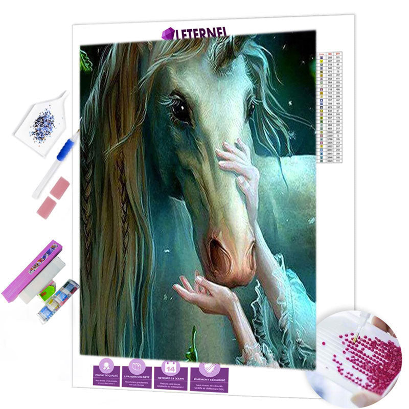 diamond painting licorne enchantée