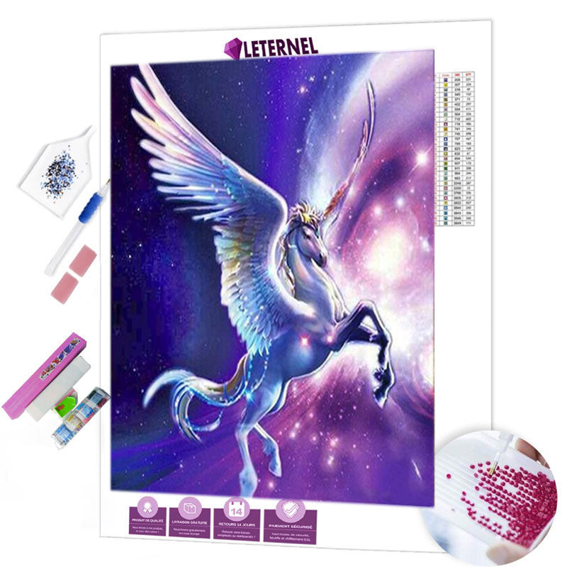 diamond painting licorne lune