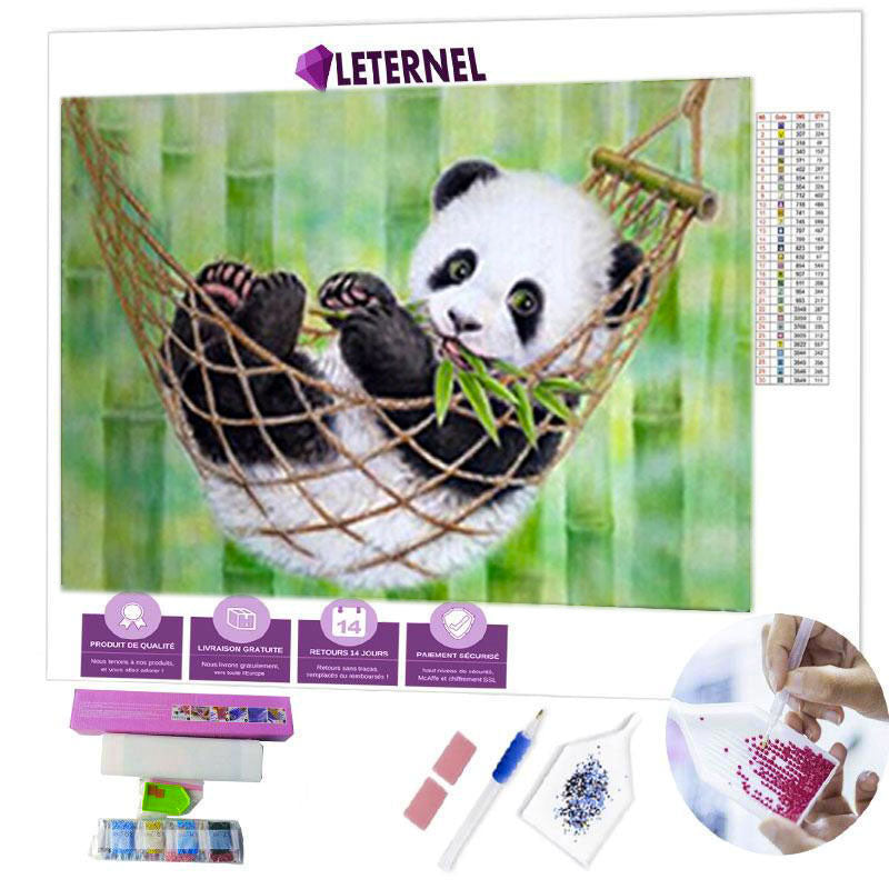 diamond painting panda hamac