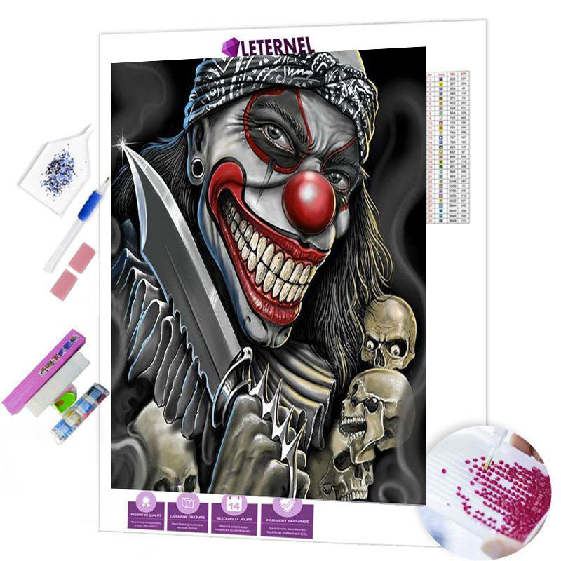 diamond painting pirate clown horreur