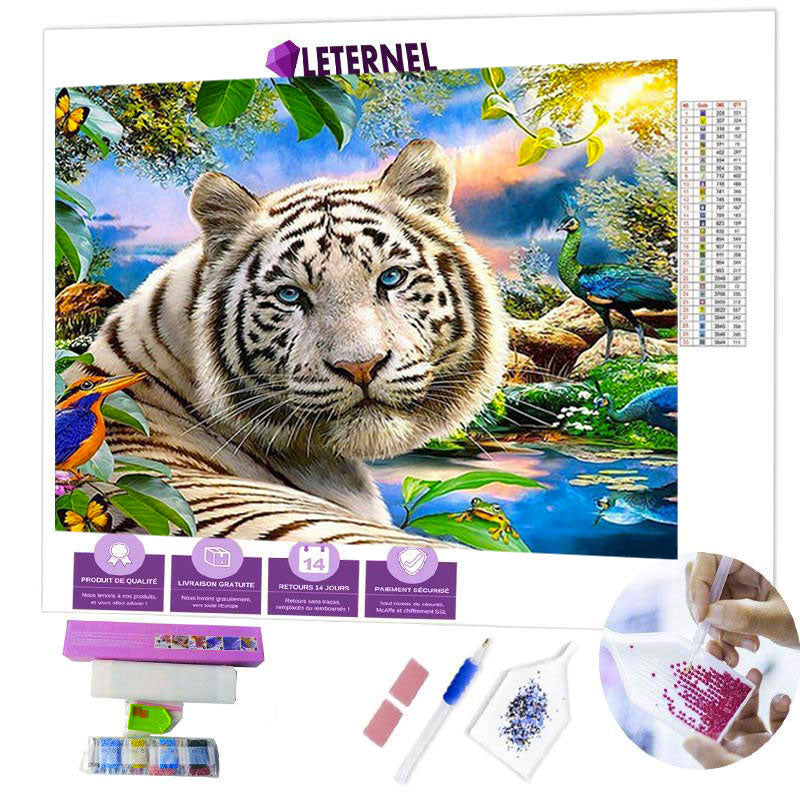 diamond painting tigre sauvage