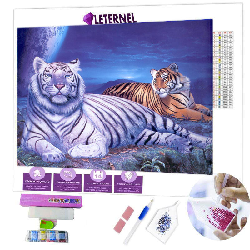 diamond painting tigre savane