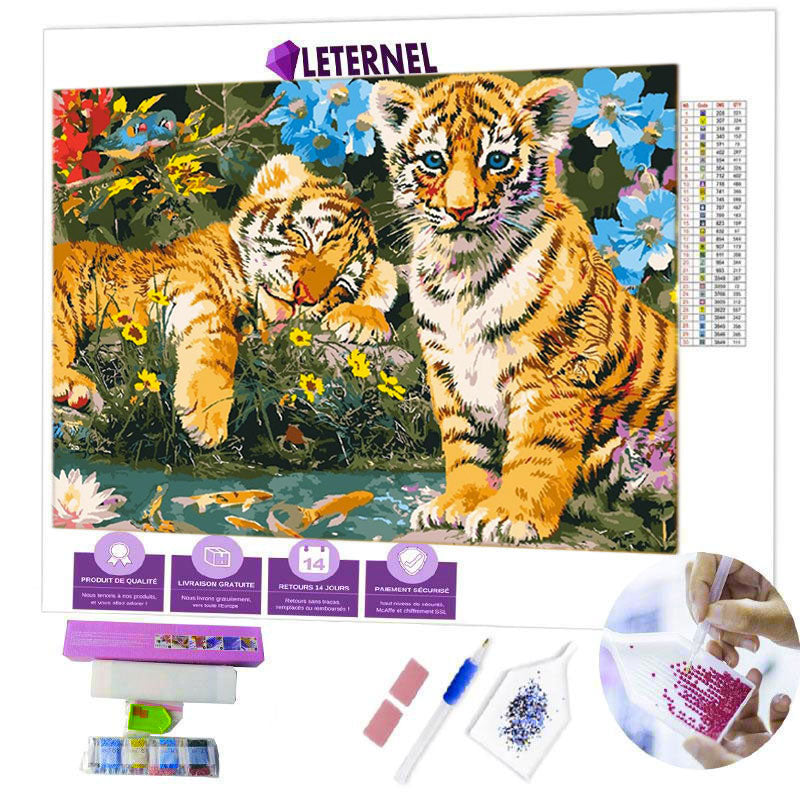 diamond painting bébé tigres