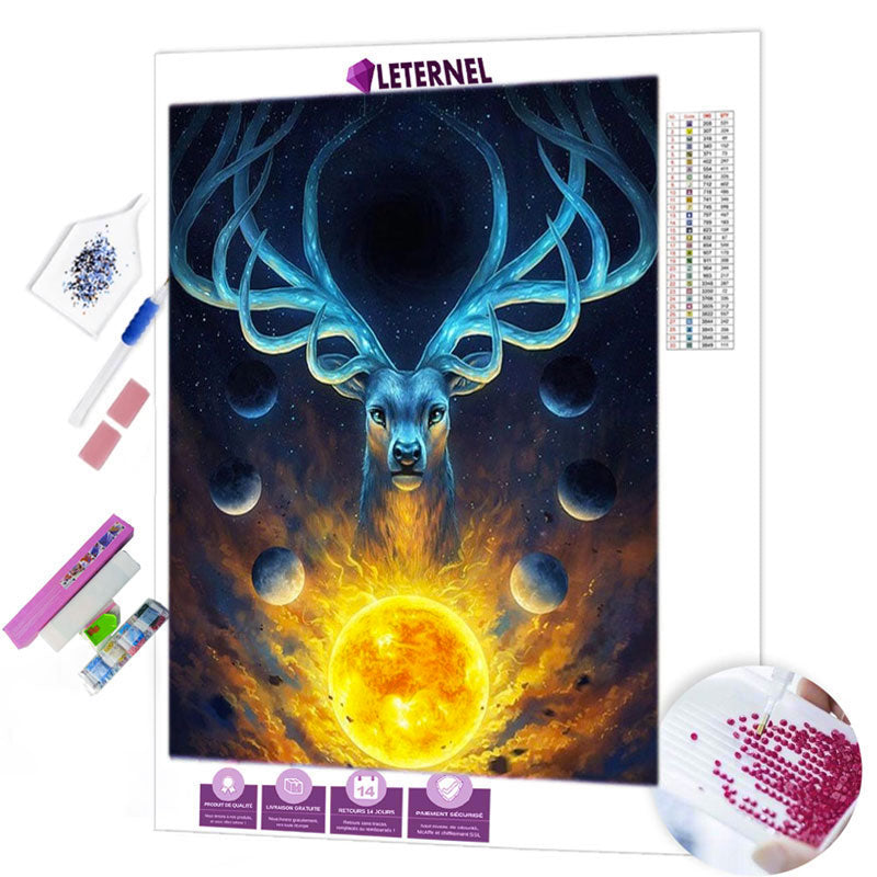 Broderie Diamant - Cerf astral