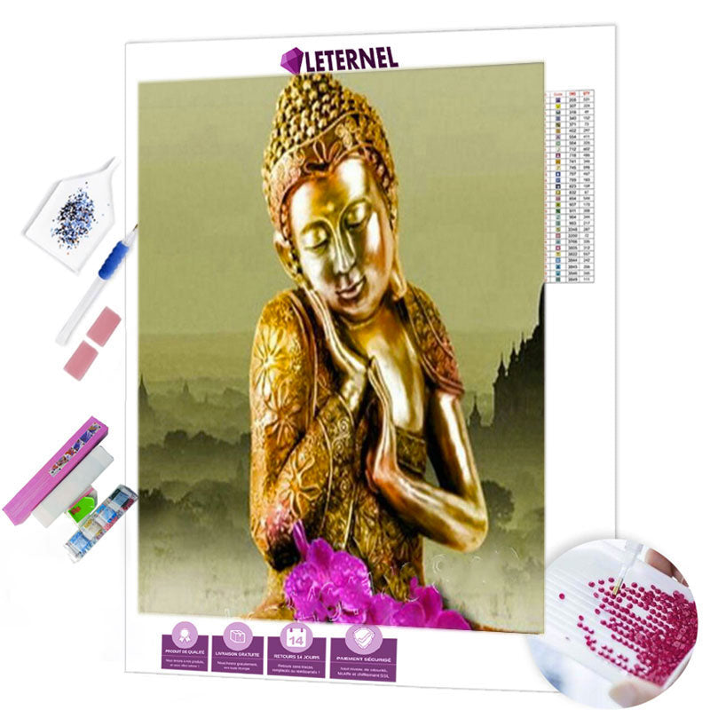 diamond painting bouddha Asie