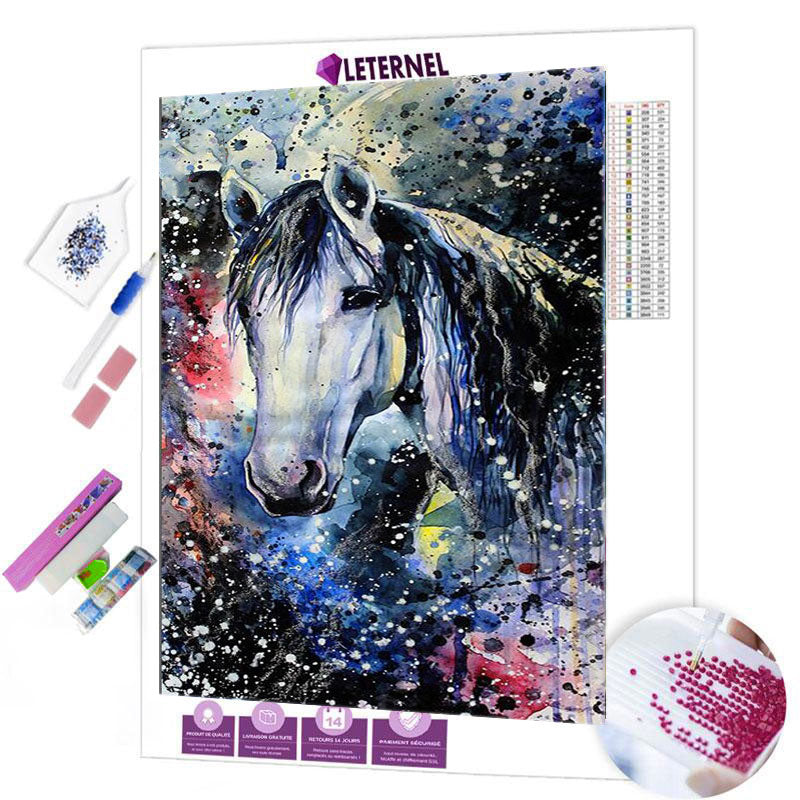diamond painting cheval aquarelle
