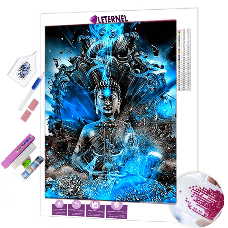 diamond painting explosion bouddha