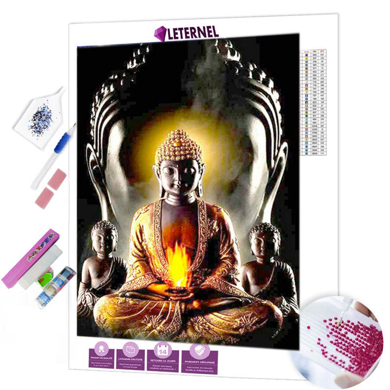 diamond painting flamme bouddha