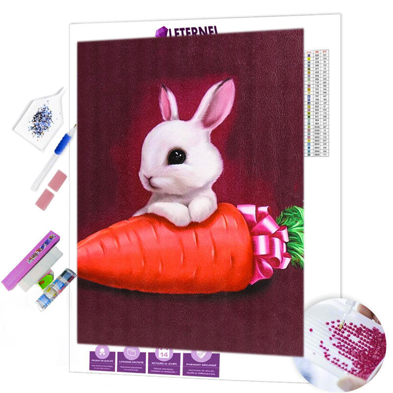 Broderie Diamant - Lapin carotte