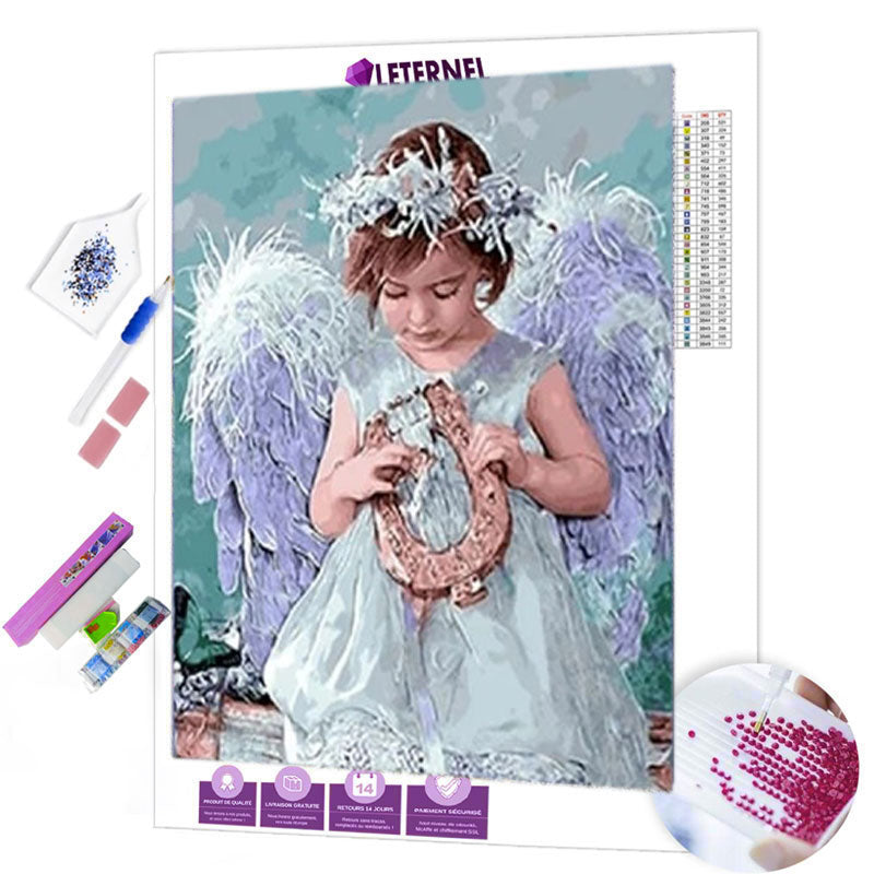 Broderie Diamant - Petite fille ange