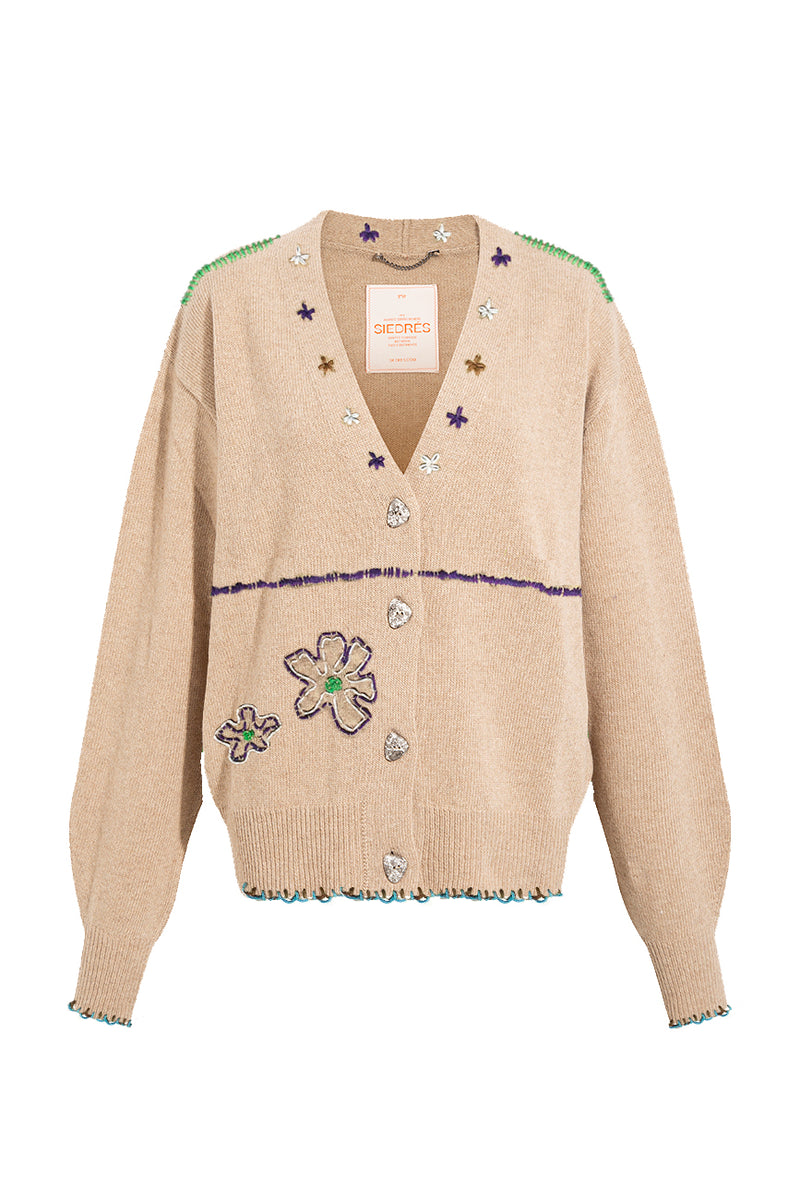 BRUNE - Limited edition embroidered cardigan