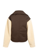 RUTH - Double layered jacket with shearling sleeve