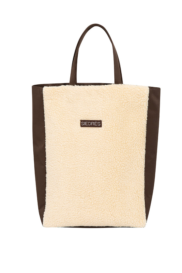 TOTTO - Curly wool tote bag