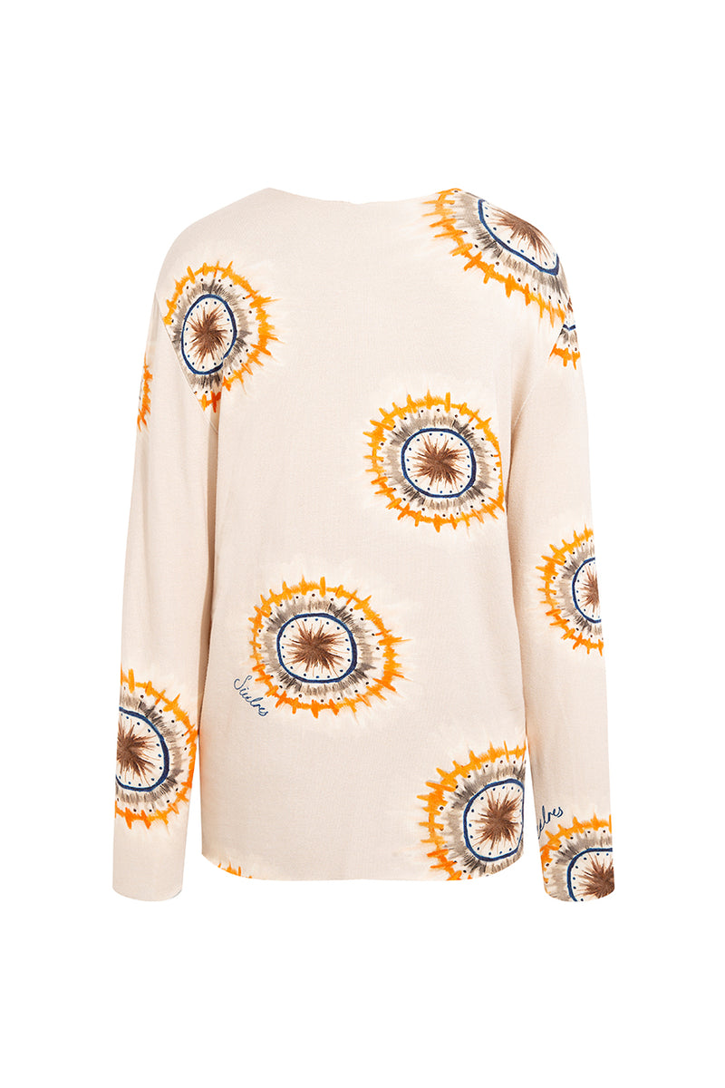 LEY - Long sleeve printed knit top