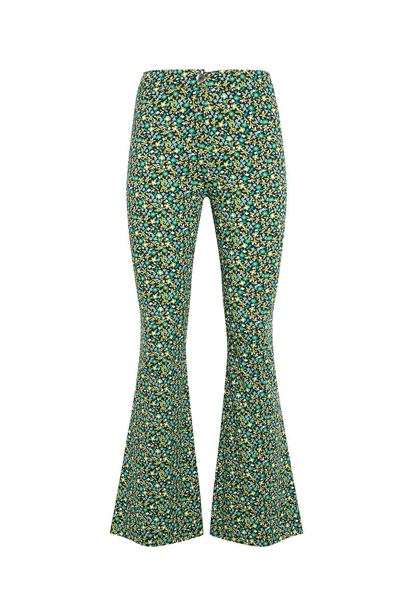 ISLA - Mini flower printed cotton pants