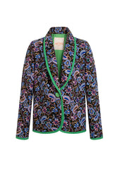 EDIE - Shawl collar printed jacket