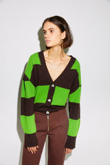 BRUNE - Stripe cardigan