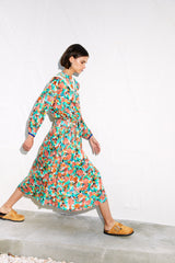 CHUCK - Peter pan collar printed shirt dress
