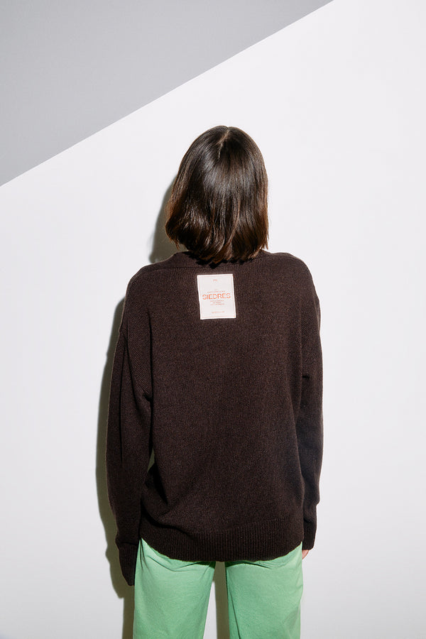 BRUNE - Brown cardigan