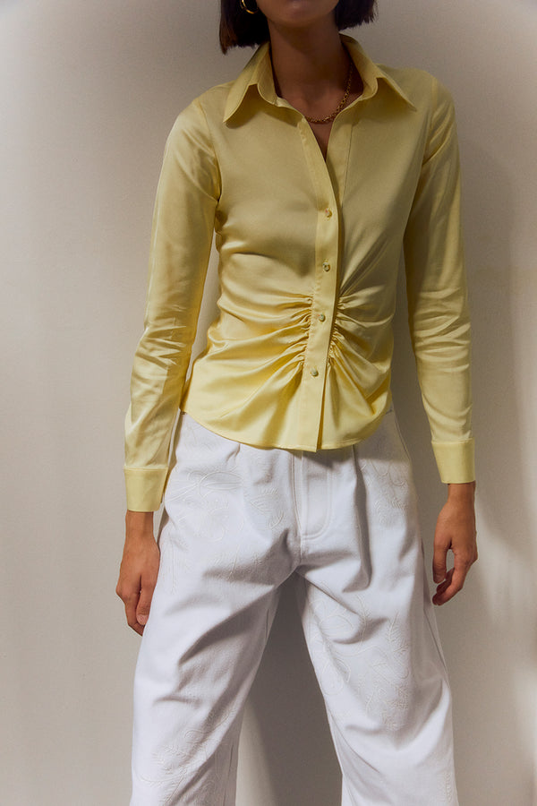 NIC - Draped satin shirt