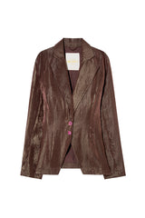 BLANCA - Single-breasted taffeta jacket