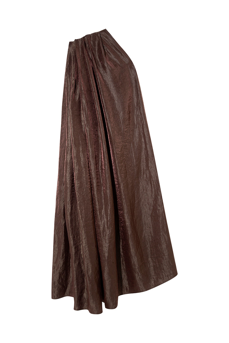 OSCAR - One-shoulder taffeta maxi dress