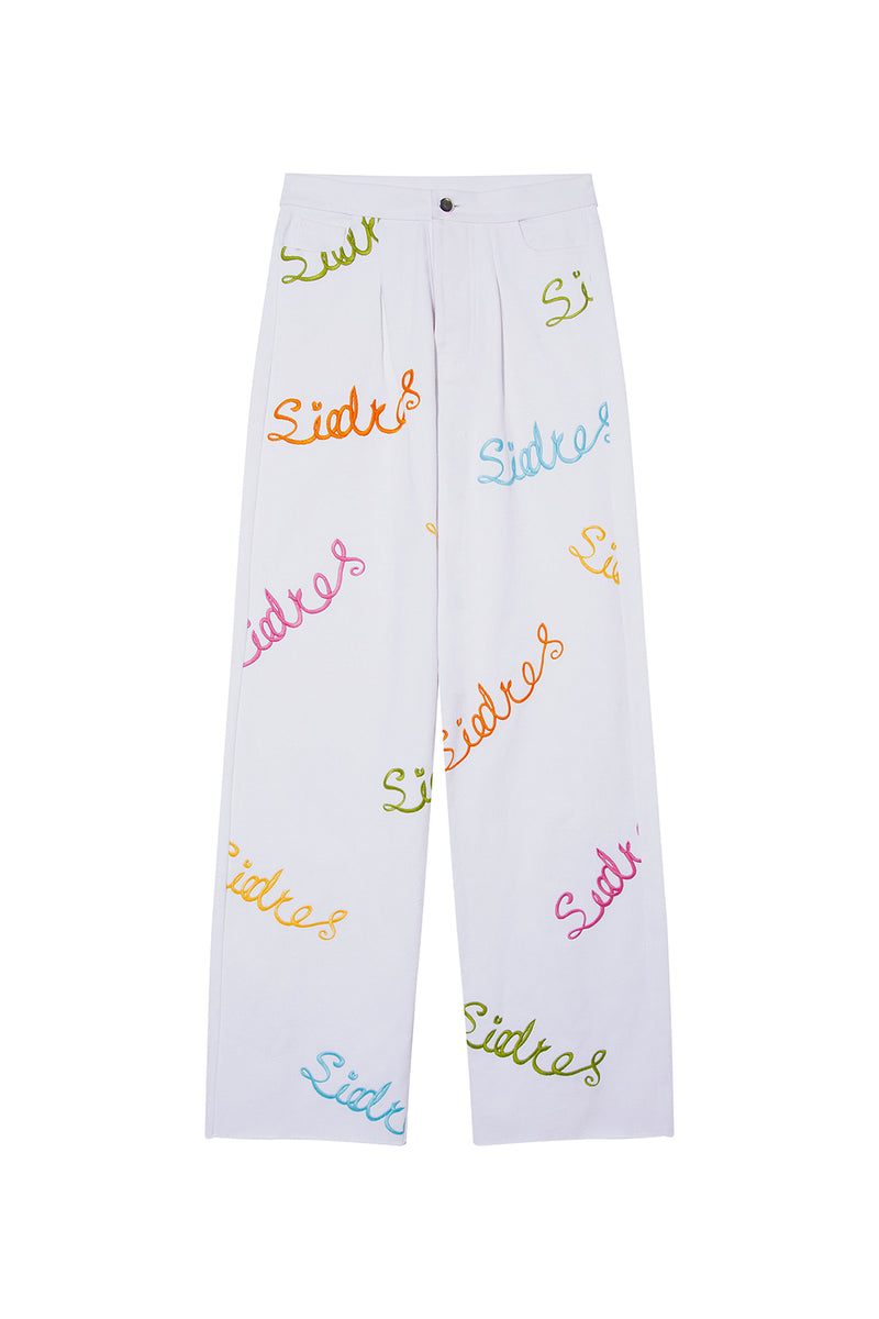 ARID - Siedres embroidered pleated jeans