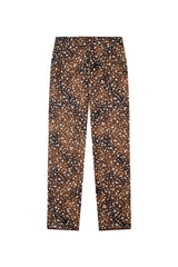 COLOMB - Printed straight leg cotton pants