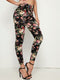 Botanical Print Leggings - Shop Women's T-shirts, blouses, Leggings & Trousers online - Luwos