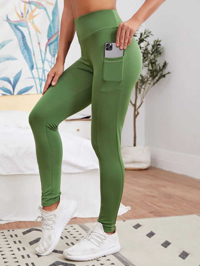Scrunch Butt Sports Leggings With Phone Pocket - Shop Women's T-shirts, blouses, Leggings & Trousers online - Luwos
