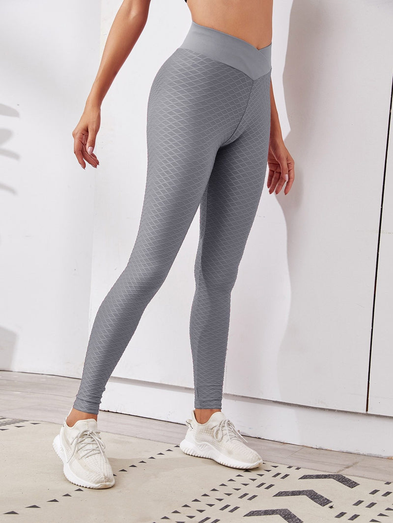 Solid Textured Sports Leggings</h1><br>Luwos - Shop Women's T-shirts, blouses, Leggings & Trousers online - Luwos