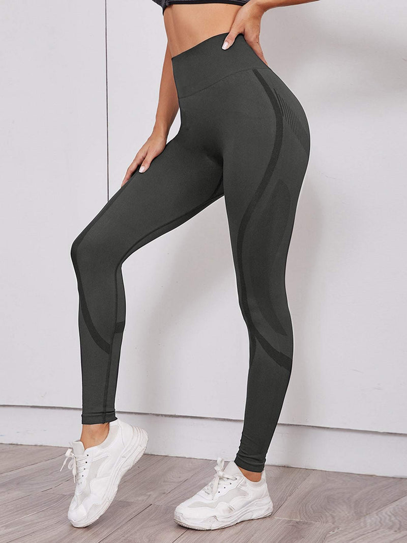 Seamless Wide Waistband Sports Leggings - Shop Women's T-shirts, blouses, Leggings & Trousers online - Luwos
