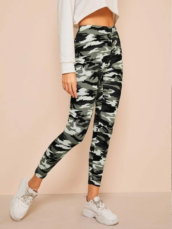 Leggings Camo waist Luwos - Shop Women's T-shirts, blouses, Leggings & Trousers online - Luwos