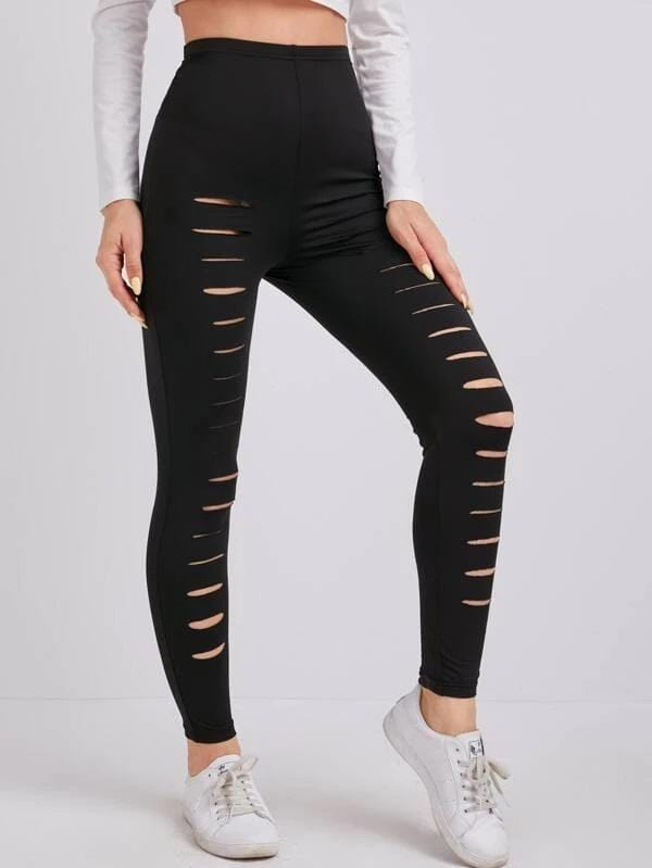 Textured High Waist Sports Leggings Luwos - Shop Women's T-shirts, blouses, Leggings & Trousers online - Luwos