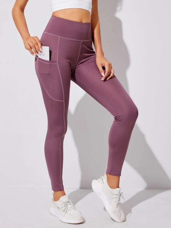 Topstitching Sports Leggings With Phone Pocket luwos - Shop Women's T-shirts, blouses, Leggings & Trousers online - Luwos
