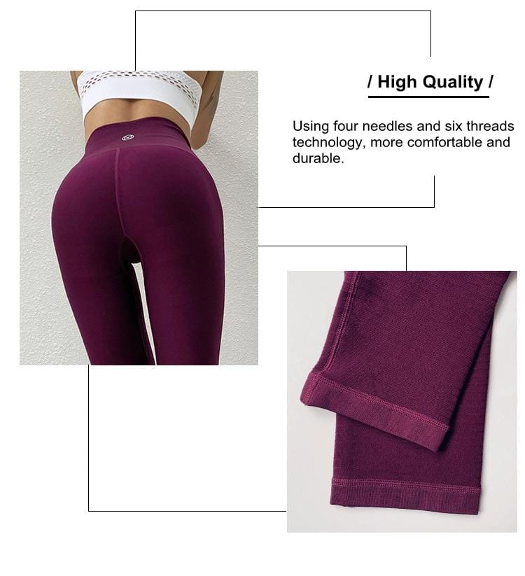 Elastic High Waist Sports Leggings Women Yoga Pants - Shop Women's T-shirts, blouses, Leggings & Trousers online - Luwos