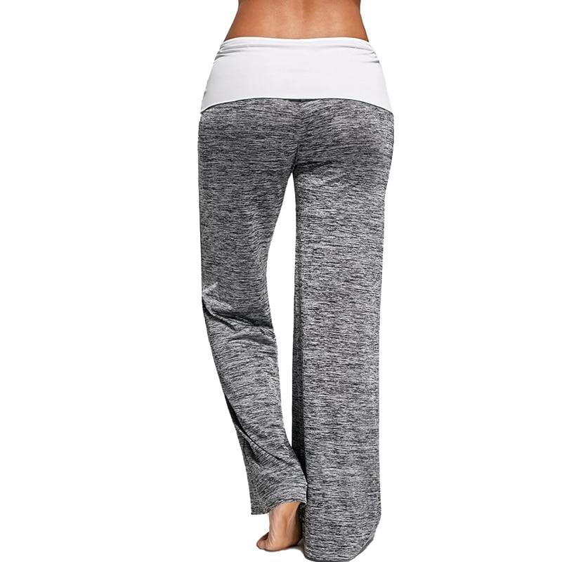 Drawstring Waist Flare Pants Sportswear Yoga Pants - Shop Women's T-shirts, blouses, Leggings & Trousers online - Luwos
